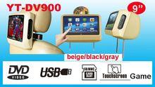 New model 9 inch car headrest pillow dvd player monitor