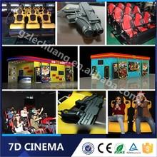 New Products Hydraulic/Electronic Big Gun Shooting 6 Dof Hydraulic 5D 6D 7D Cinema