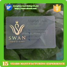 Offset printed thin pvc transparent visiting card with laser gold foil