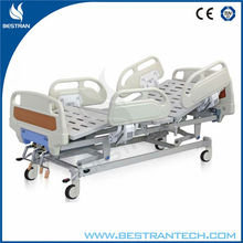 China BT-AM103 Hospital ABS bed medical patient care nursing bed clinic tilting bed with ABS side rails
