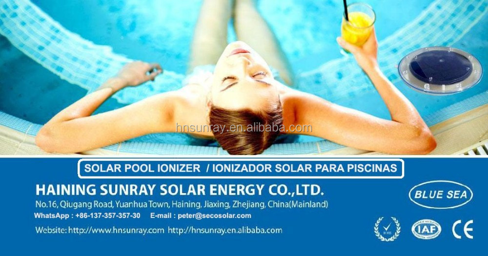 2017 float solar swimming pool water ionizer purifier - Swimming pool ionizer ...