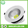 Architectural/office/halling lighting,white housing,cut out 140mm gimbal,adjustable,230v cob round led downlight 20w