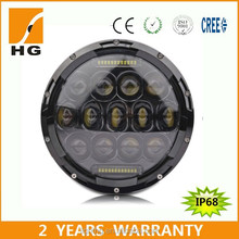 "7inch led headlight jeep nisan navara 7 inch round headlight for offroad 7"" led high low beam"