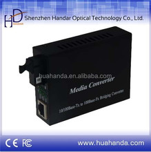 Hot sale Fast Ethernet Fiber Optical Media converter, Single Fiber, SC connector , SM, 25km, 1*9,internal power supply