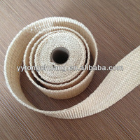 exhaust insulating wrap/texturized fiber glass tape with HEAT TREATMENT