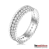 Midi wedding zirconia vintage ring fashion jewelry 18k White Gold Plated Gear Ring CR0131-B