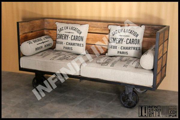 Industrie jahrgang daybed m bel industriellen m bel - Mobili industriali vintage ...
