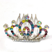 Cheap Girls Nice Hair Jewelry Small childrens real diamond crowns and tiaras