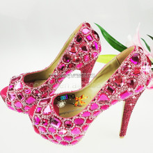 Fashion Heels Wholesale Shoes crystal studded wedding shoes Handmade Crystal Shoes
