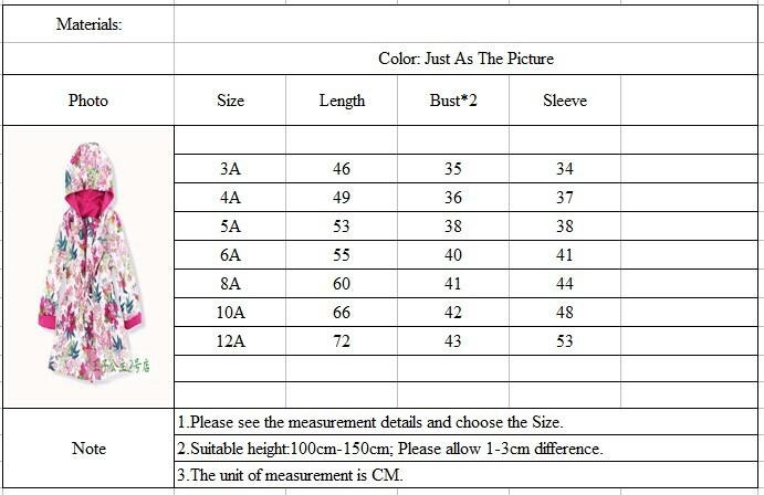 Скидки на Супер бренд дети два - стороны пальто, Цветочный девочки верхняя одежда, Дизайнер девочки-младенцы бутик плащ, 3-12Y