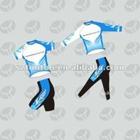Custom sublimation blue cycling wear design