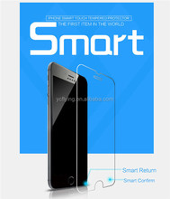 """Hot selling Smart Touch 9H 2.5D tempered glass film for iphone6 4.7"""" smart screen protector Virtual key with back and menu key"""