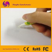 2015 new design UV plating ballpoint pens with slim clip