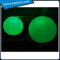 Festival decoration fantastic inflatbale lighting ground balloon led inflatable water balloon for decoration