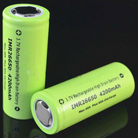 High capacity 26*65 mm Durable IMR 26650 4200mah 3.7v 40A Rechargeable Lithium-ion Battery Flashlight Batteries