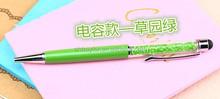 Cheap logo engraved stylus crystal pen