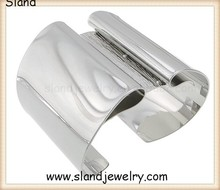 Wholesale Adjustable silver upper arm cuff, cheap Cuff Bracelet Armlet plain