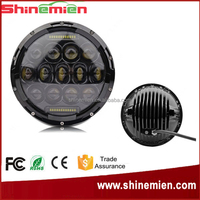 new product 75w led driving lights round 7 inch for off road