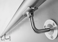 brushed finish stainless steel wall mounted handrail brackets