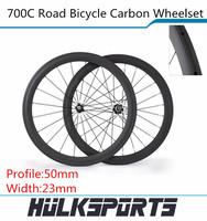 Carbon road bicycle wheels 700c full carbon road bike wheelset 50mm Tubular carbon wheels