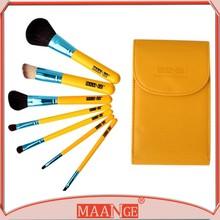 New quality 7 animal hair brushes professional brush set original BAG + pack