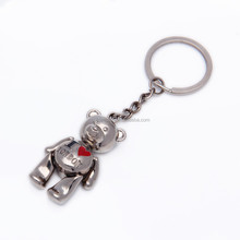 Decoration lovely bear custom printing metal 3d Keychain