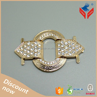 High quality factory price gold rhinestone decorative shoe rack accessories
