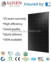 260W 265w Mono Black Panel PV Poly Solar Panel System