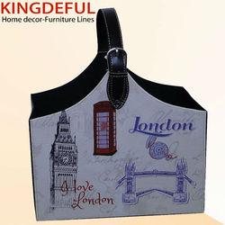 London Design Leather Fashionable Storage Tote