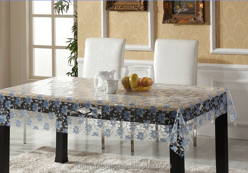 nappe pvc transparent en plastique pais nappe de table id. Black Bedroom Furniture Sets. Home Design Ideas