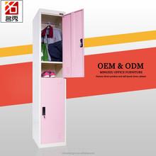 Knock down top quality rosa 2 porta de metal cama guarda-roupa