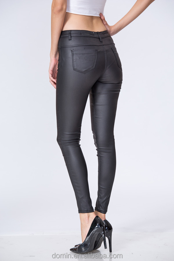 new design wholesale clothing manufacturers pu pant