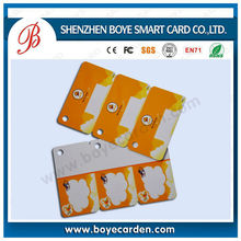 ISO plastic cards with 1/2/3 key ups