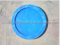 Circular nodular cast iron manhole covers