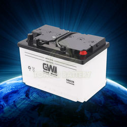 Acid lead din standard car battery 12v 66ah dry charged battery