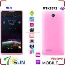 P10 mtk6572 4.5 inch Android 4.2 Smartphone Dual core 4G ROM WIFI Dual SIM 3G phone android cell phone