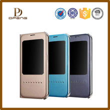 2015 New Genuine leather concise flip phone cover, mobile phone case for iphone 6