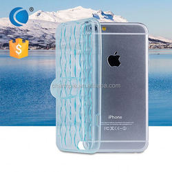Transparent Crystal Clear TPU cell phone case silicone decorate cell phone case for iphone 6 plus case