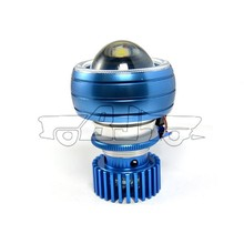 BJ-HL-002 Wholesale blue aluminum bi-xenon projector 18W high beam led headlight motorcycle