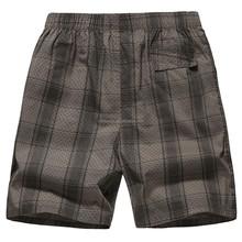 2015 fashion design plus size plaid mens short pants