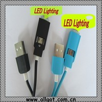 Colorful Micro USB led data cable Charging Data Sync LED usb Cable for Android,mobile phone accessories