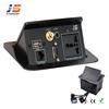 RCA, USB, VGA,RJ45 JS-221V Multimedia Desktop socket manufacturer