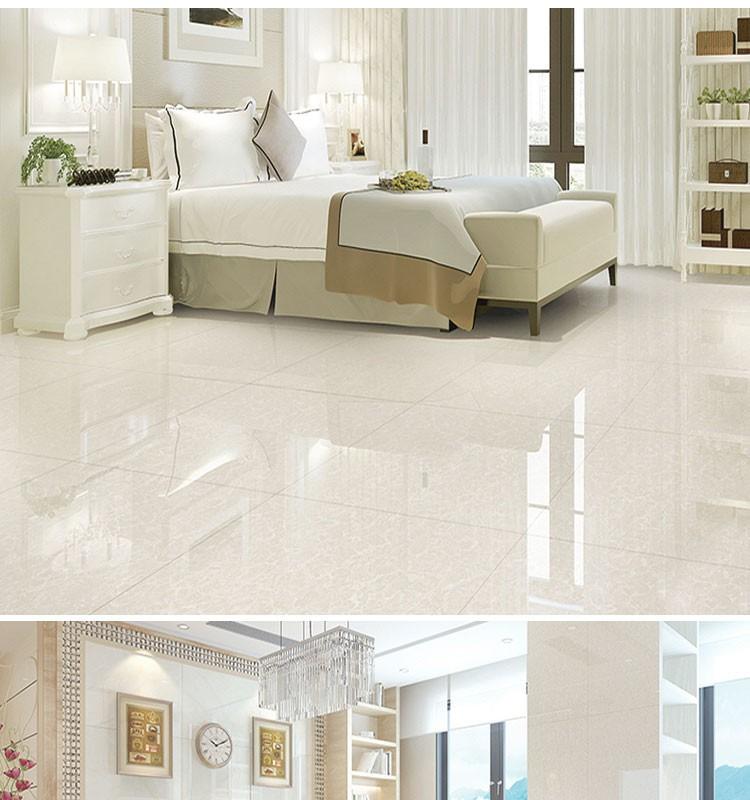 White gloss tiles floor