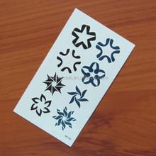 Para crianças pequena flor por atacado personalizado etiqueta do tatuagem