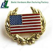 Cut out Nickel plating US flag pin badge for souvenir
