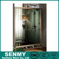 Liga de alumínio de luxo quadro material de dobramento de correr porta de vidro do chuveiro