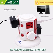 230v socket with usb,5.1v 2.1a usb power outlet,5 pin relay socket electric supply