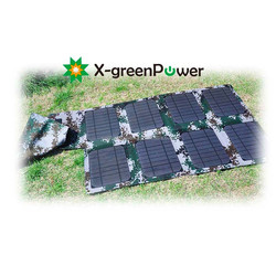 Light weight folding solar panel 46W for camping hiking traveling