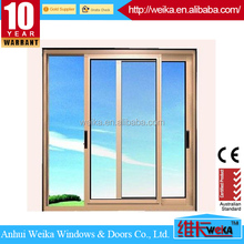 Made in china bronze color sliding windows