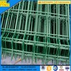 Decorative green plastic coated welded wire mesh fence panel for garden